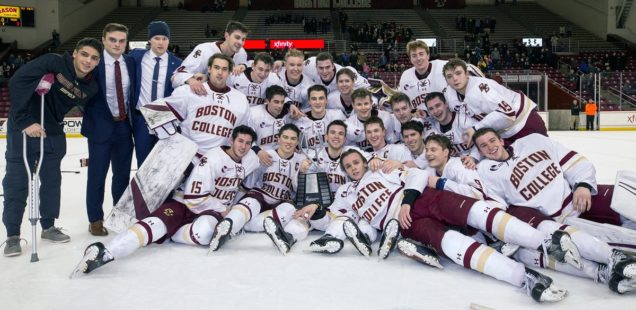 Men's Hockey Caps Season with Weekend Sweep of Maine, Hockey East Regular Season Championship