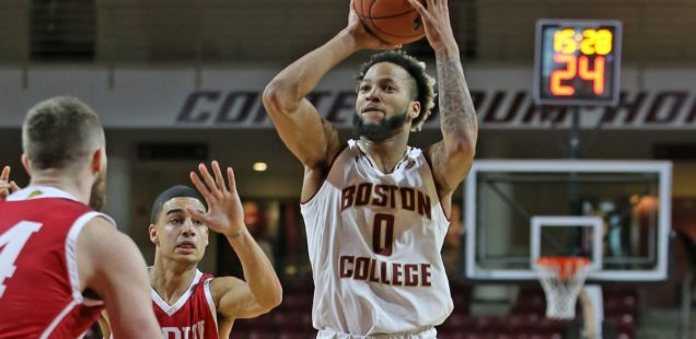 IUPUI bullies BC on the boards, hands Eagles first loss of season