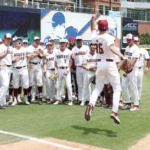 Dan Metzdorf and the Eagles celebrate after defeating Louisville