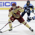 Boston College Outshoots Maine 40-25 but Falls in Overtime 4-3